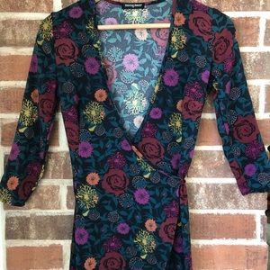 American apparel long floral dress